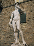 Statue of David by Michelangelo in the Piazza Della Signoria in Florence, Tuscany, Italy Photographic Print by Lightfoot Jeremy