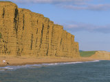Cliffs Towering over West Bay Beach, Dorset, England, United Kingdom, Europe Photographic Print by Lightfoot Jeremy