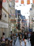 People Walking Along the Rue Du Gros Horloge, the Main Street of Old Rouen, Normandy, France Photographic Print by Levy Yadid