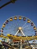 Rollercoaster at the Santa Monica Pier, Santa Monica, Los Angeles, California, USA Photographic Print by Kober Christian
