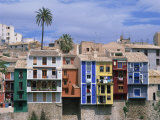 Brightly Painted Houses at Villajoyosa in Valencia, Spain, Europe Photographic Print by Mawson Mark