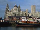 Restored Steamer and Rail Terminal, Liverpool, UNESCO World Heritage Site, Merseyside, England, UK Photographic Print by Maxwell Duncan