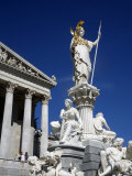 Athena Statue in Front of the Parliament Building, Vienna, Austria, Europe Photographic Print by Levy Yadid