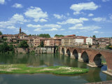 River and Bridge with the Town of Albi in the Background, Tarn Region, Midi Pyrenees, France Photographic Print by Lightfoot Jeremy