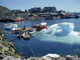 Iceberg in the Harbour, Julianehab, Greenland, Polar Regions Photographic Print by Lomax David