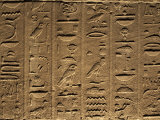 Hieroglyphs Adorn the Walls of the Temple of Philae, UNESCO World Heritage Site, Near Aswan, Egypt Photographic Print by Mcconnell Andrew