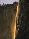 Horsetail Falls, Yosemite Valley, Yosemite National Park, California, USA Photographic Print by Kober Christian