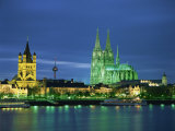 Dom Cathedral and the River Rhine, Cologne, Nord Rhein Westfalen, Germany, Europe Photographic Print by Gavin Hellier