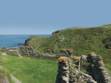 Tintagel Castle and the Cornish Coast, Cornwall, England, United Kingdom, Europe Photographic Print by Hughes David