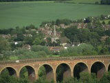 Eynsford Village and Railway Viaduct, Darent Valley Near Sevenoaks, Kent, England, United Kingdom Photographic Print by Hughes David