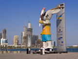 Ory the Oryx on the Doha Corniche, Doha, Qatar, Middle East Photographic Print by Gavin Hellier