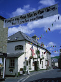 Town Decorated for Literary Festival, Hay-On-Wye, Powys, Wales, United Kingdom, Europe Photographic Print by Hunter David