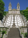 Basilica and Famous Staircases of Bom Jesus, Completed in 1837, Braga, Minho Region of Portugal Photographic Print by Maxwell Duncan