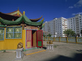 Restaurant Style Pagoda, City Centre, Ulan Bator, Tov, Mongolia, Central Asia Photographic Print by Morandi Bruno