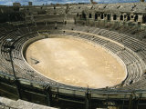 Roman Amphitheatre in Nimes in the Gard Area of Languedoc Roussillon, France, Europe Photographic Print by Hughes David
