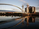 Millennium Bridge at Salford Quays, Manchester, England, United Kingdom, Europe Photographic Print by Levy Yadid
