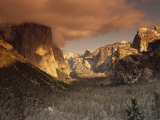 Yosemite Valley at Dusk During Winter, Yosemite National Park, California, USA Photographic Print by Howell Michael
