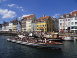 Nyhavn Canal, Copenhagen, Denmark, Scandinavia, Europe Photographic Print by Harris Simon