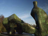 Henry Moore Sculpture Near Kenwood House on Hampstead Heath, North London, England, United Kingdom Photographic Print by Hughes David