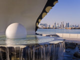 Pearl Monument on the Corniche of Doha Bay, Doha, Qatar, Middle East Photographic Print by Gavin Hellier
