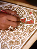 Calligrapher at the Medina, Marrakesh, Morocco, North Africa, Africa Photographic Print by Levy Yadid