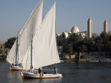 Feluccas Sailing on the River Nile at Aswan, Egypt, North Africa, Africa Photographic Print by Mcconnell Andrew