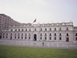 Guard Stands in Front of La Moneda, the Current Seat of the President of Chile, Santiago, Chile Photographic Print by McCoy Aaron