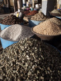 Various Grains and Spices on Sale at the Atbara Souq, Sudan, Africa Photographic Print by Mcconnell Andrew