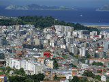 City and the Ria De Vigo, Islas Cies in the Distance, Vigo, Galicia, Spain, Europe Photographic Print by Maxwell Duncan