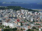 City and the Ria De Vigo, Islas Cies in the Distance, Vigo, Galicia, Spain, Europe Photographic Print by Maxwell Duncan