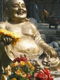 Golden Buddha Statue at Shaolin Temple, Birthplace of Kung Fu Martial Arts, Shaolin, Henan, China Photographic Print by Kober Christian