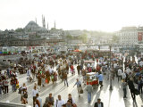 People at Eminonu Square in the Old Town, Istanbul, Turkey, Europe Photographic Print by Levy Yadid