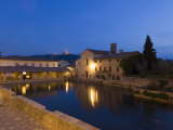 Thermae of Bagno Vignoni, Val D&#39;Orcia, Siena Province, Tuscany, Italy, Europe Photographic Print by Pitamitz Sergio