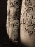 Hieroglyphics Adorn the Pillars Within the Temples of Karnak, Thebes, Egypt Photographic Print by Mcconnell Andrew