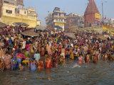 Ganges River, Makar San Kranti, Varanasi, Uttar Pradesh State, India Photographic Print by Gavin Hellier
