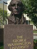 Bust of George Washington, George Washington University, Washington D.C., USA Photographic Print by Hodson Jonathan