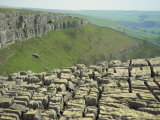Limestone Pavement, Malham Cove, Malham, Yorkshire Dales National Park, North Yorkshire, England Photographic Print by Hodson Jonathan