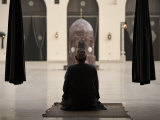Man Praying at the Mosque of Al-Hakim, Cairo, Egypt, North Africa, Africa Photographic Print by Mcconnell Andrew