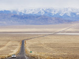 Never Ending Straight Road on US Route 50, the Loneliest Road in America, Nevada, USA Photographic Print by Kober Christian