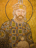 Mosaic of John the Baptist Inside Aya Sofya, Istanbul, Turkey Photographic Print by Gavin Hellier