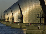 Thames Flood Barrier, Woolwich, Near Greenwich, London, England, United Kingdom, Europe Photographic Print by Miller John