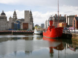 Lightship at Canning Dock Next to Albert Dock, Liverpool, Merseyside, England, UK Photographic Print by Levy Yadid