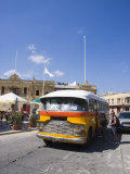 Traditional Coloured Bus, Marsaxlokk, Malta, Europe Photographic Print by Kelly Michael