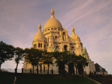 Sacre Coeur, Montmartre, Paris, France, Europe Photographic Print by Hughes David