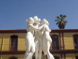Greek Like Statue of Three Women Embracing, La Serena, Chile, South America Photographic Print by McCoy Aaron