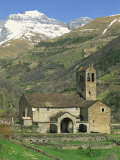 Exterior of Church, Linas De Broto, Pyrenees, Aragon, Spain Photographic Print by Lawrence Graham