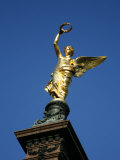 Golden Angel Liebenberg Monument, Vienna, Austria, Europe Photographic Print by Levy Yadid
