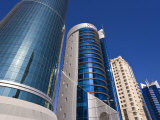 West Bay, Qatar's Financial and Central Business District, Doha, Qatar, Middle East Photographic Print by Gavin Hellier