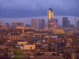 City Skyline, Including St. Paul's Cathedral and the Natwest Tower at Dusk, London, England, UK Fotografisk trykk av Miller John