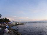 Manila Bay at Sunset, Manila, Philippines, Southeast Asia Reproduction photographique par Kober Christian
